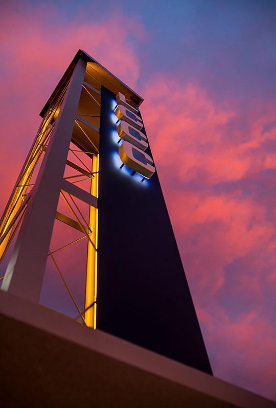 LCCC spire sunrise