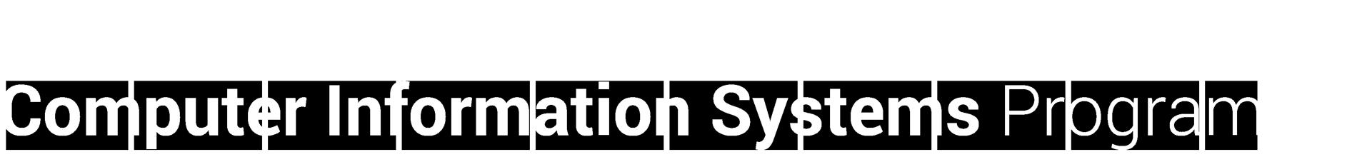 Computer Information Systems Program