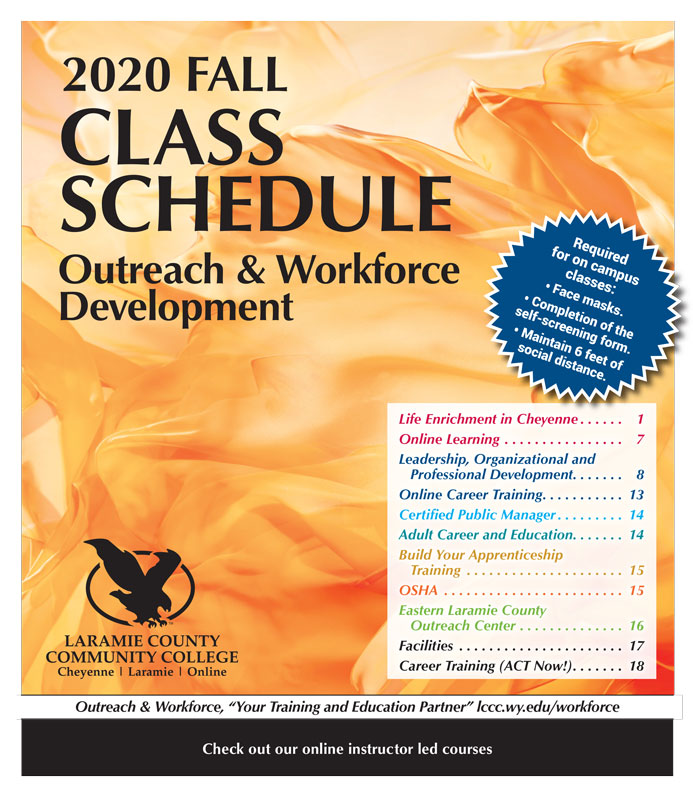 2020 Fall Class Schedule for Outreach and Workforce Development